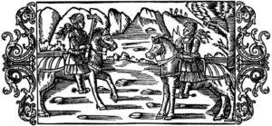 Olaus Magnus Historia om de nordiska folken. Bok 5 - Kapitel 28 - Om kvinnors krigiska öfningar - Utgivningsår 1555.