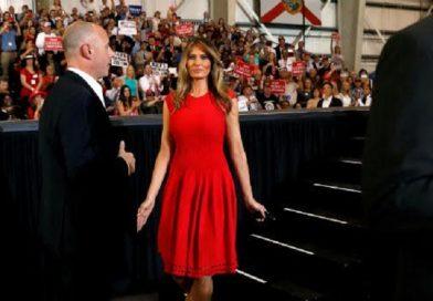 Melania Trump johti yleisön Isä meidän -rukoukseen