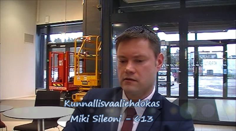 Haastattelussa kunnallisvaaliehdokas Miki Sileoni