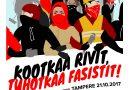Antifasistit lietsovat joukkojaan – Tampereella viikon päästä ääriliikkeiden yhteenotto?